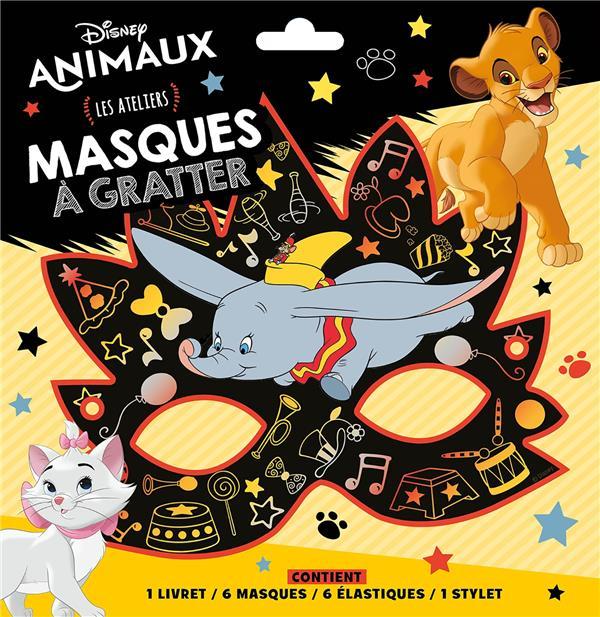 LES ATELIERS DISNEY  -  ANIMAUX  -  MASQUES A GRATTER