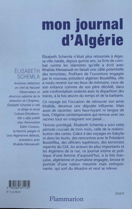 Mon journal d'algerie - novembre 1999 - janvier 2000
