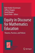 Equity in Discourse for Mathematics Education  - David Wagner - David Pimm - Jeffrey Choppin - Beth Herbel-Eisenmann