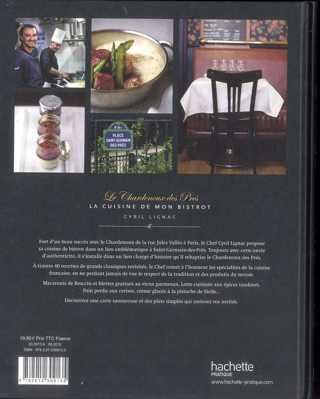 Le Chardenoux des Prés ; la cuisine de mon bistrot