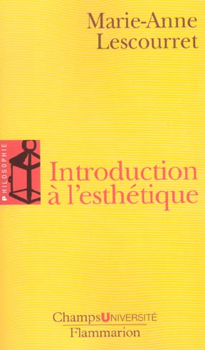 Introduction a l'esthetique