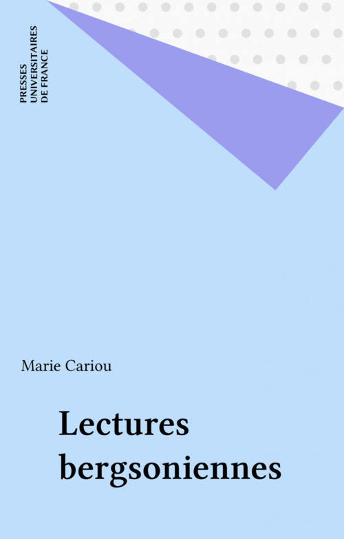 Lectures bergsoniennes