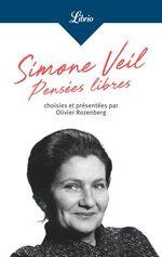 Vente EBooks : Pensées libres  - Simone Veil