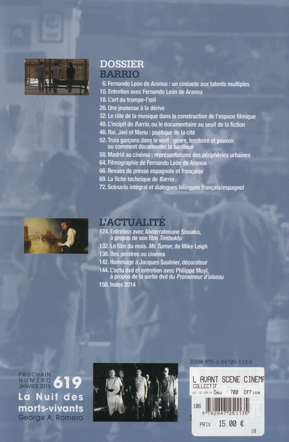 L'avant-scene cinema t.618; barrio