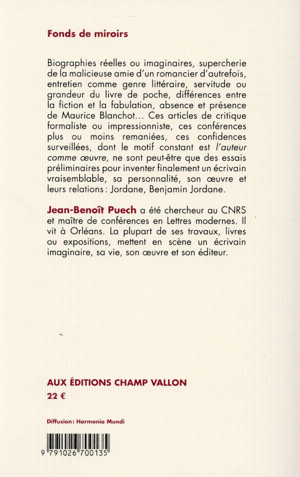 Fonds de miroirs ; Maurice Blanchot tel que je l'ai connu