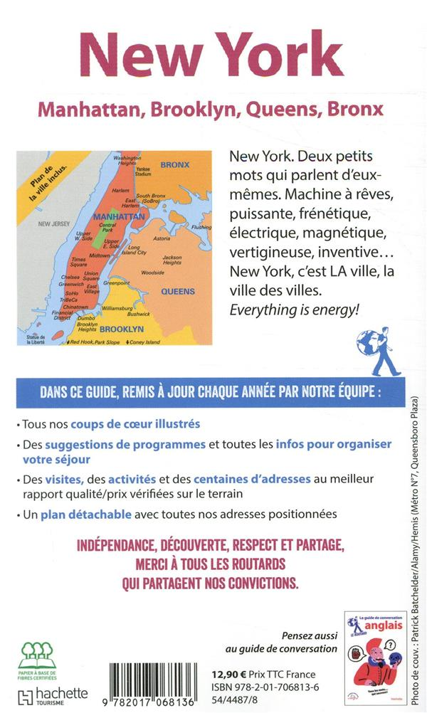 Guide du Routard ; New York ; Manatthan, Brooklyn, Queens, Bronx (édition 2020)