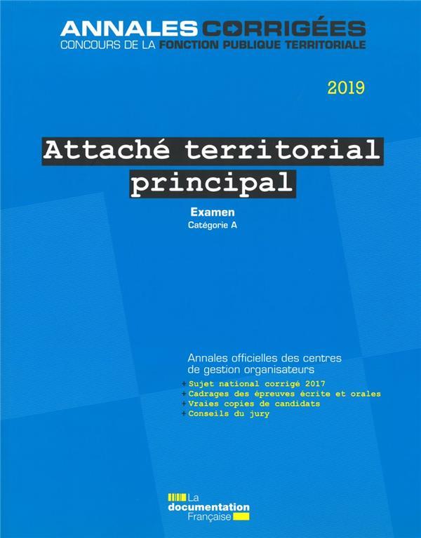 Attaché territorial principal 2019 ; examen professionnel