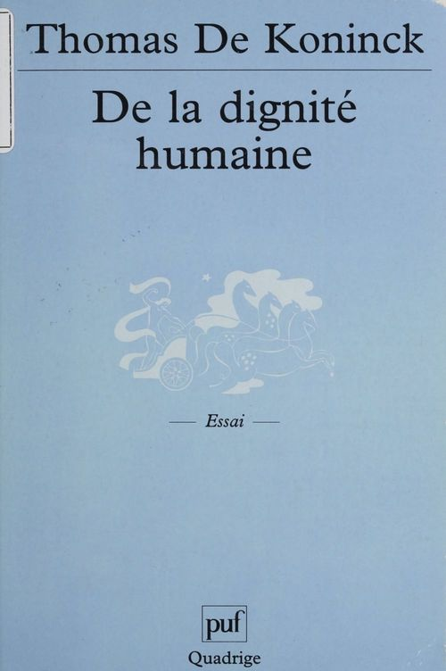 De la dignite humaine