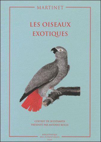 les oiseaux exotiques ; coffret de 20 estampes