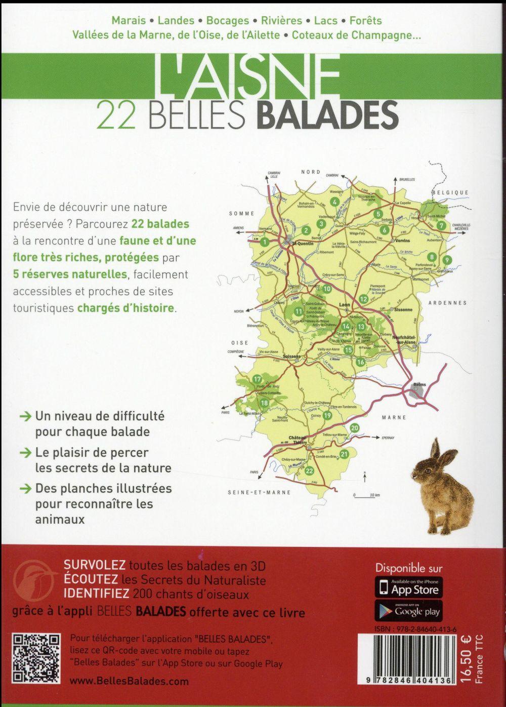 Picardie ; l'Aisne ; 22 belles balades