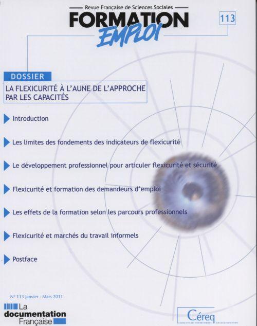 PROSPECTIVE FORMATION EMPLOI T.113 ; la flexicurité à l'aune de l'approche par les capacités