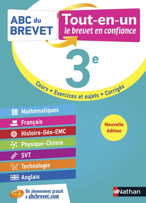 ABC DU BREVET TOUT-EN-UN ; mathématiques, français, histoire-géographie EMC, physique-chimie, SVT, technologie, anglais ; 3e (édition 2021)