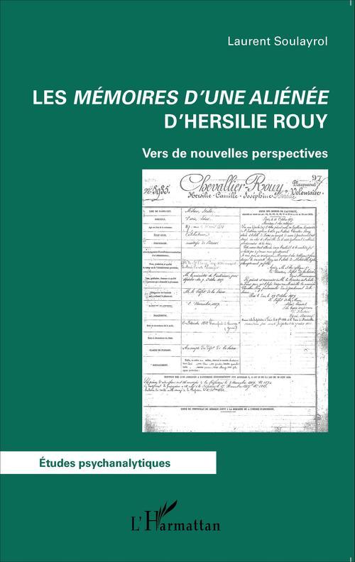 Les mémoires d'une aliénée d'Hersilie Rouy; vers de nouvelles perspectives
