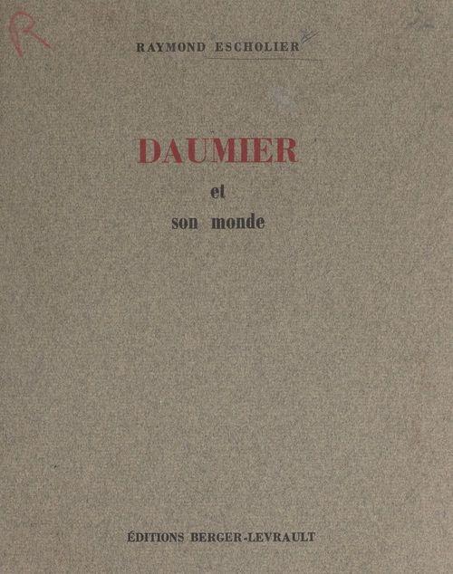Daumier et son monde