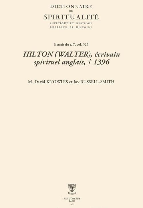 HILTON (WALTER), écrivain spirituel anglais, + 1396
