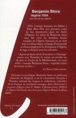 Algérie 1954 ; une chute au ralenti