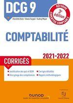 Vente EBooks : DCG 9 Comptabilité - Corrigés - 2021/2022  - Charlotte Disle - Audrey Meyer - Alexis Fargeix