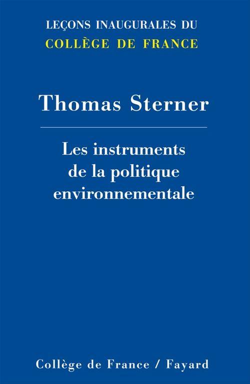 Le menu des instruments de la politique environnementale
