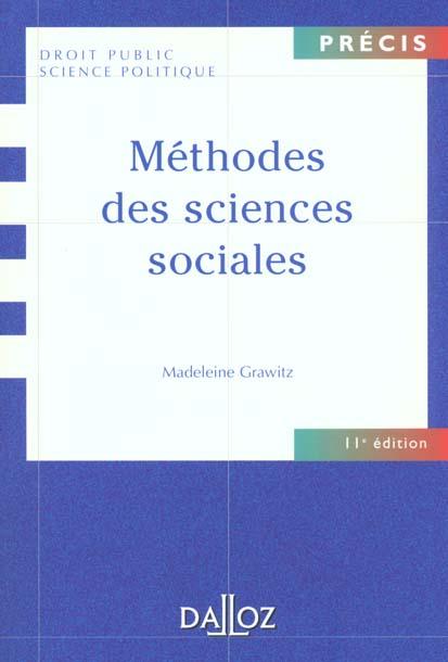 Methodes Des Sciences Sociales - 11e Ed.