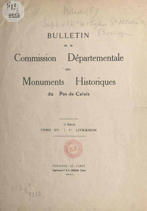 Supplément à l'histoire de l'église Saint-Nicolas de Boulogne