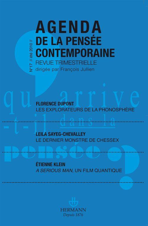 AGENDA DE LA PENSEE CONTEMPORAINE N.17 (édition 2010)