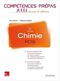 COMPETENCES PREPAS ; chimie ; PCSI 1re année