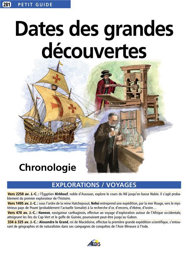 Dates des grandes découvertes ; chronologie