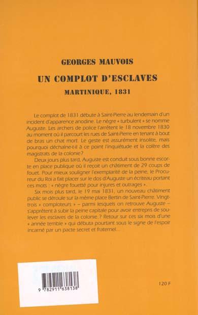 Un complot d'esclaves