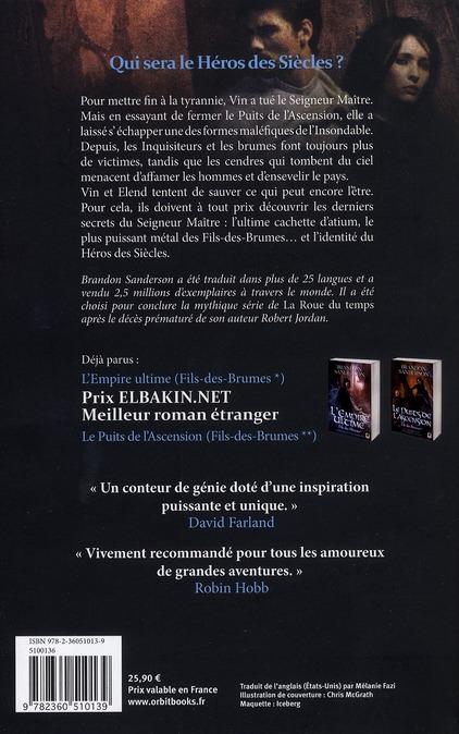 Fils-des-Brumes T.3 ; le héros des siècles