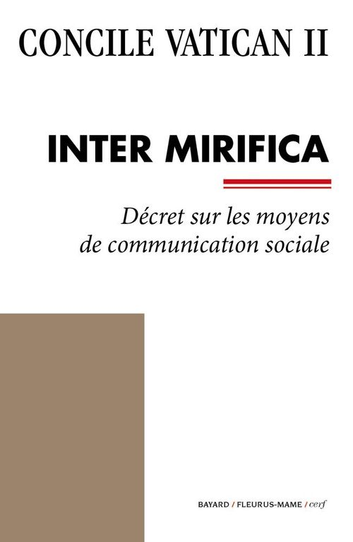 Concile Vatican II ; Inter Mirifica