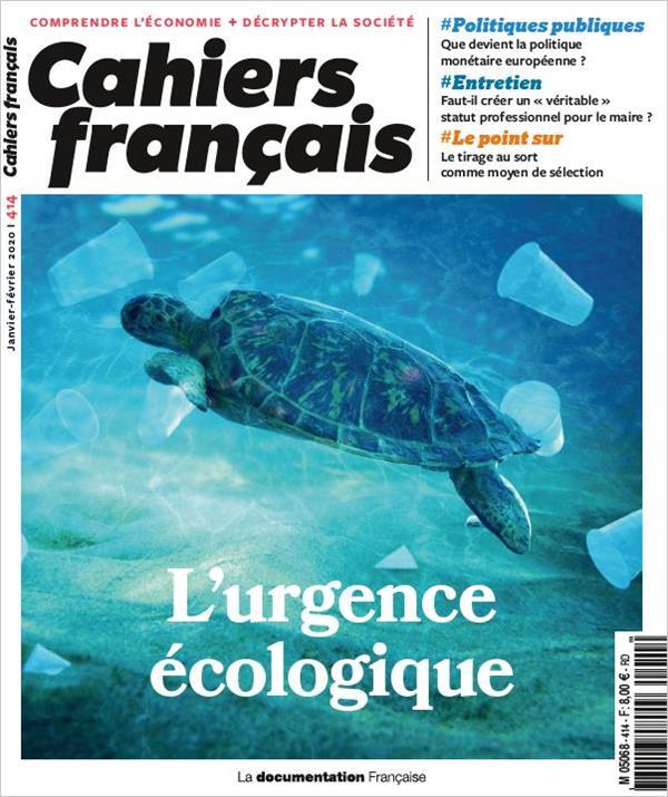 cahiers français n.414 ; janvier-février 2020 ; l'urgence écologique