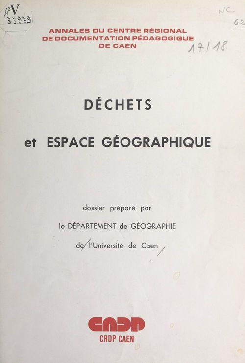 Déchets et espace géographique