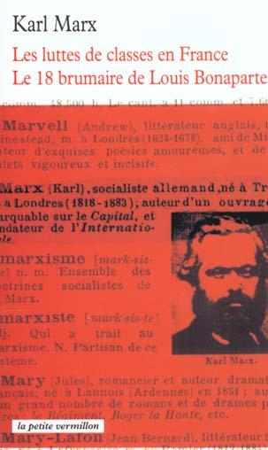 les luttes de classes en france, 1848-1850 - le 18 brumaire de louis bonaparte
