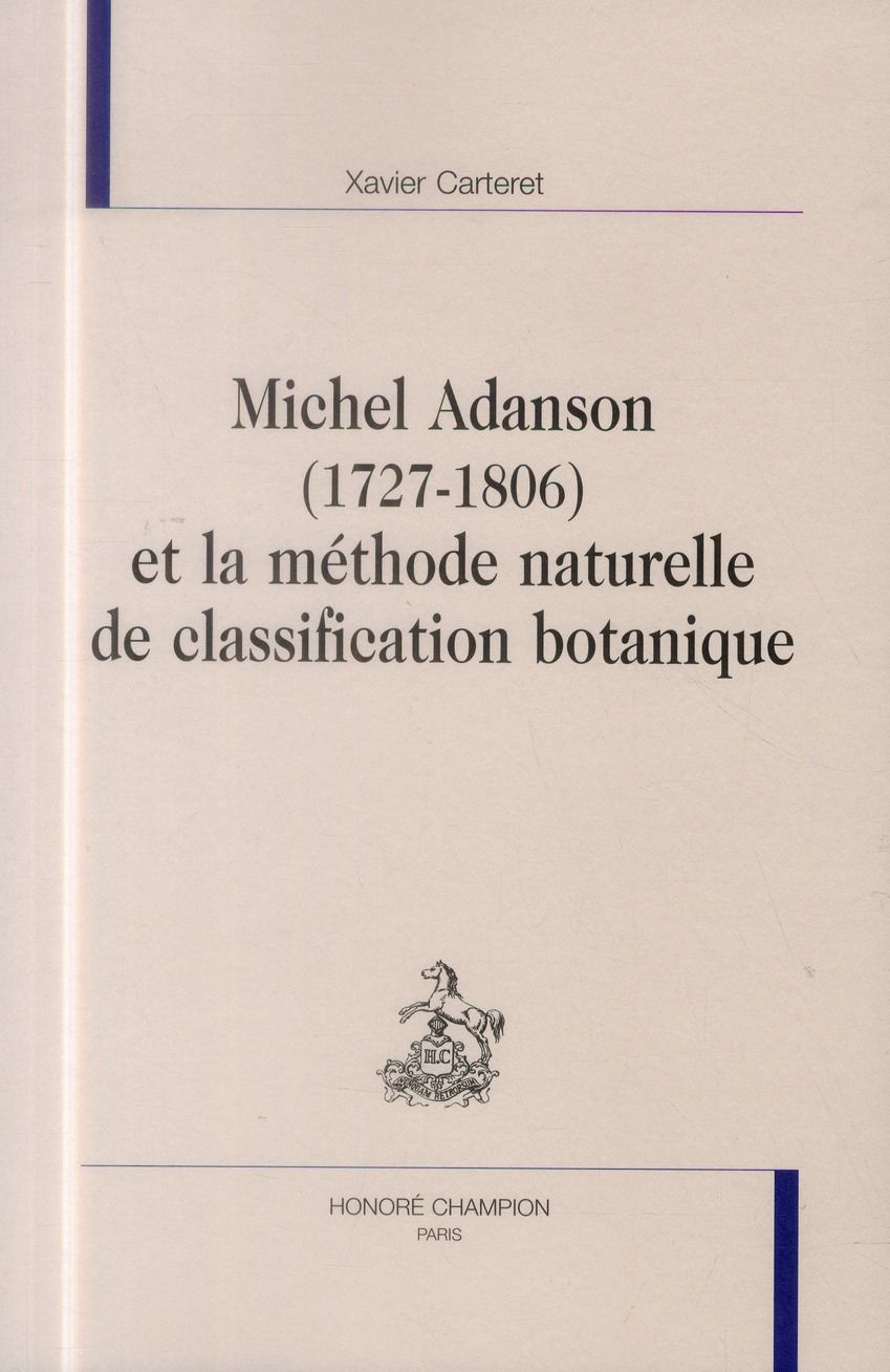 Michel Adanson (1727-1806) et la méthode naturelle de classification botanique