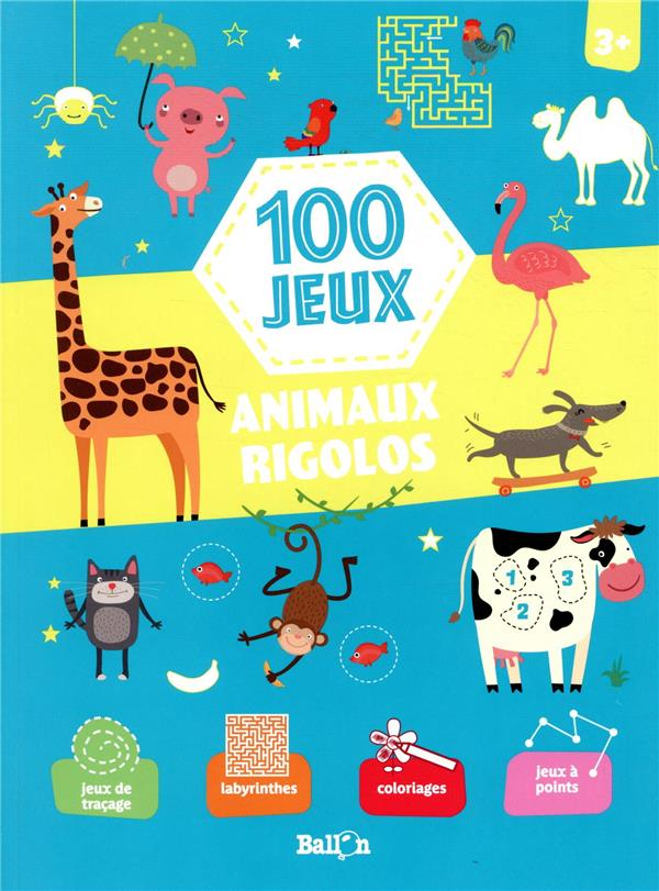 100 jeux ; animaux rigolos