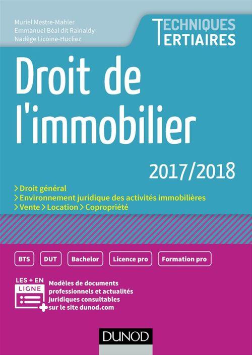 Droit de l'immobilier (édition 2017/2018)