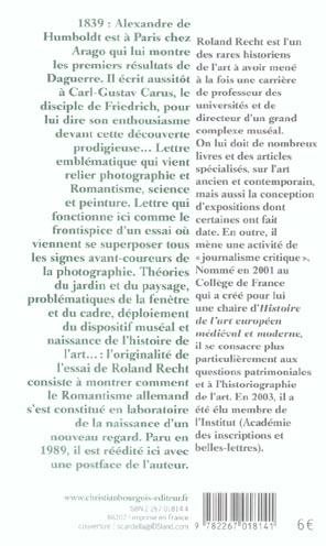 La lettre de humboldt, du jardin paysager au daguerreotype