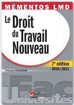 Vente Livre Numérique : Mémentos LMD. Le Droit du Travail Nouveau - 7e édition  - François Duquesne