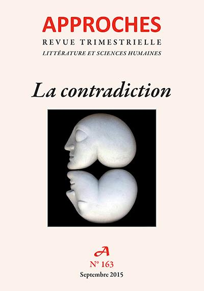 Approches n.163 ; la contradiction