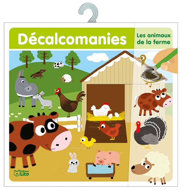 Les animaux de la ferme ; décalcomanies