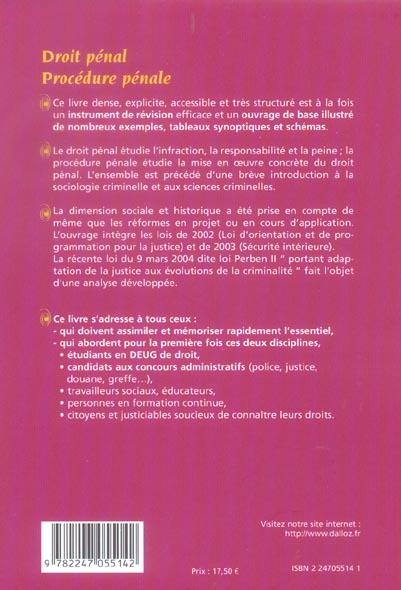 droit pénal, procedure pénale (4e édition)
