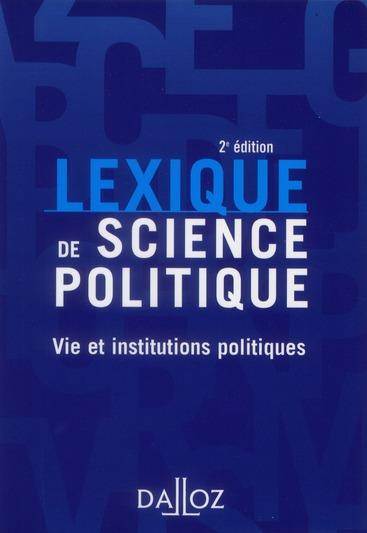 Lexique De Science Politique (2e Edition)