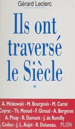 Vente Livre Numérique : Ils ont traversé le siècle  - Gérard Leclerc