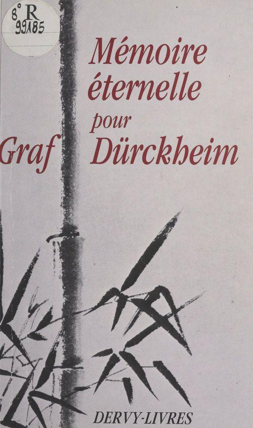 Melanges. durckheim, karlfried von memoire eternelle pour graf durckheim