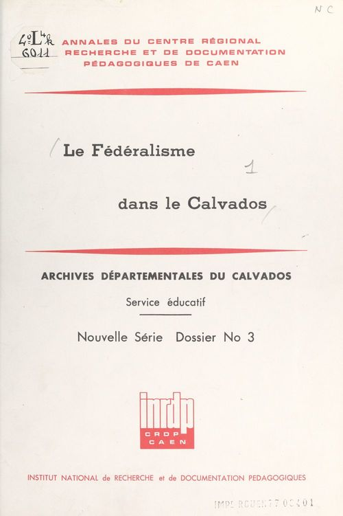 Le fédéralisme dans le Calvados