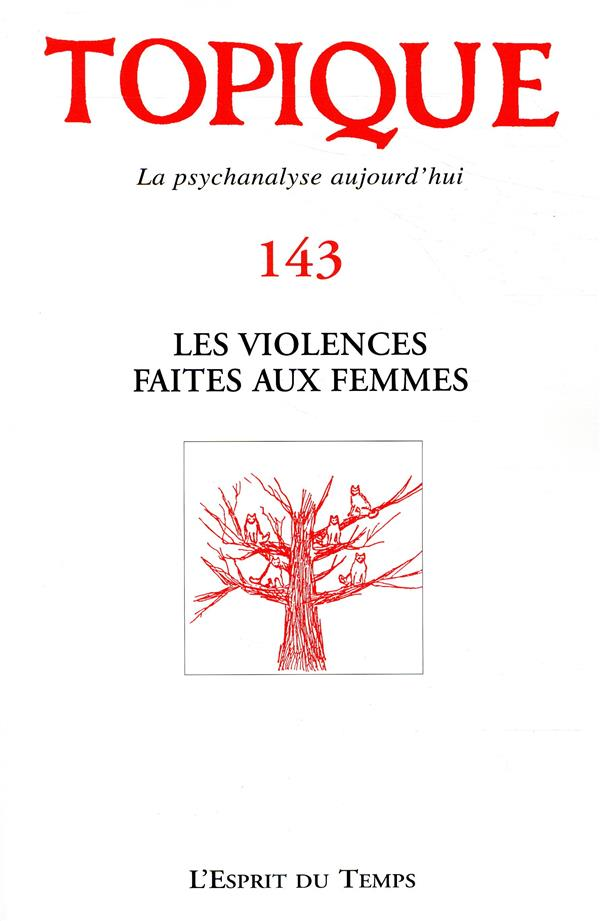 Topique n143 les violences faites aux femmes
