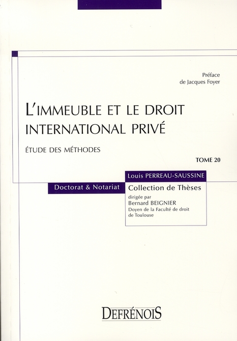 L'Immeuble Et Le Droit International Prive