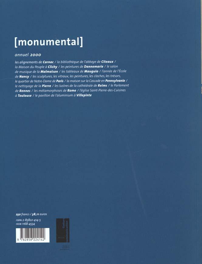 MONUMENTAL n.2000/1 ; dossier Notre-Dame de Paris