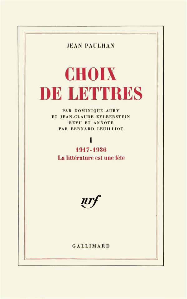 Choix de lettres - vol01 - 1917-1936