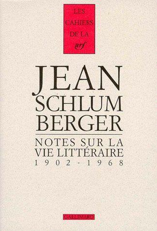 Notes sur la vie litteraire 1902-1968